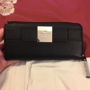 NWOT Kate Spade ♠️ Black Leather Wallet